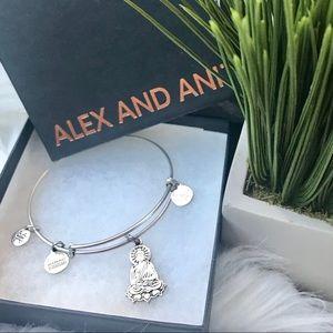 Alex and Ani Buddha bracelet
